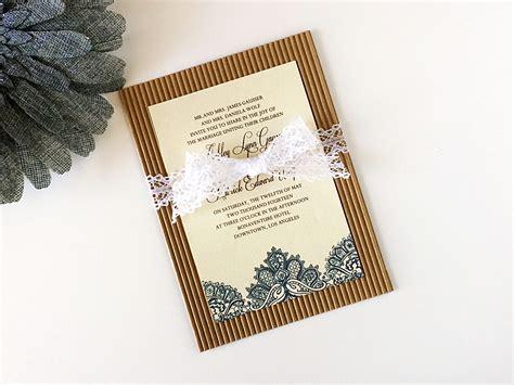 diy lace wedding invitation template suite