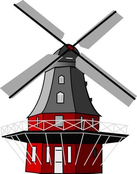 Windmill Clipart Windmill Clip At Clker Vector Clip