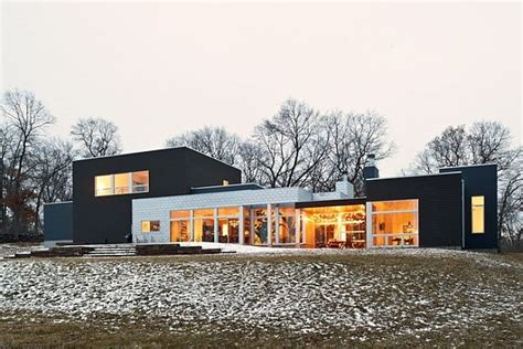 contemporary style house plans a ranch tranformed into a modern residence in minnesota