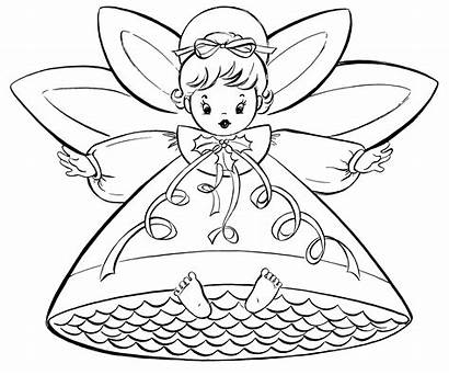 Coloring Christmas Pages Fairy Santa Merry