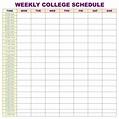 5 Best College Class Schedule Printable - printablee.com