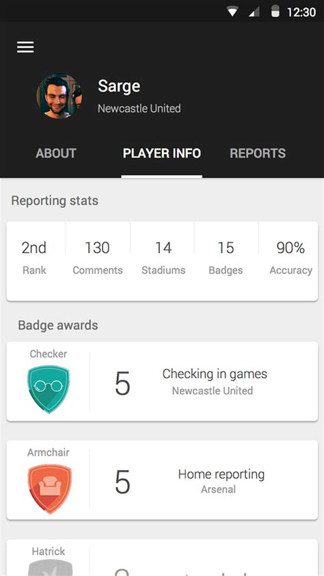 sports apps for android material design sport app for android