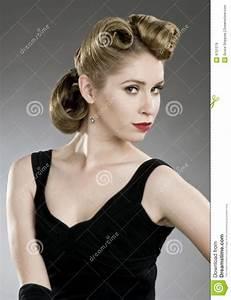Coiffure Des Années 50 : coiffure d 39 ann es 39 50 images libres de droits image 9751379 ~ Melissatoandfro.com Idées de Décoration