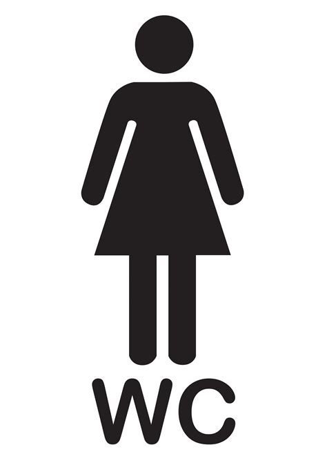 bathroom signs poster template