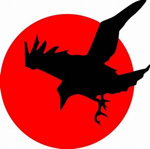 Raven On Red Clip Art at Clker.com - vector clip art ...