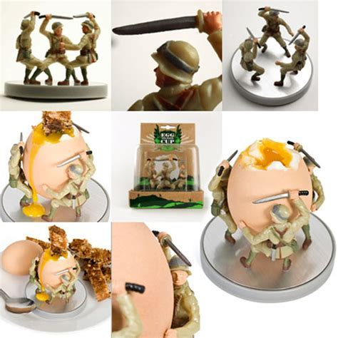 Soldier Egg Cup   Battle on the Breakfast Table   The