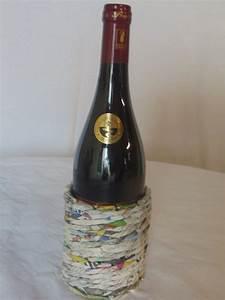 Porte Bouteille Vin Original : porte bouteille en papier journal eco vannerie ~ Dode.kayakingforconservation.com Idées de Décoration