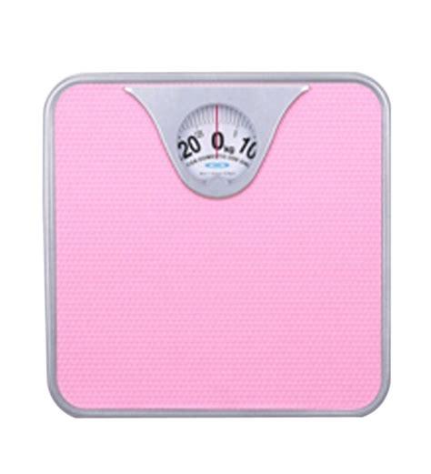 bathroom scales manual venus manual personal bathroom weighing scale 927 pink