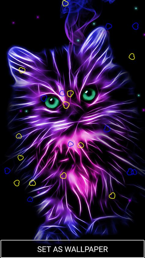 Neon Animal Wallpaper - neon animals wallpaper moving backgrounds android apps