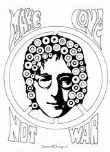 Coloring Pages Famous Lennon John Printable Colouring Hendrix Jimi Adult Sheets Singers Leonard Kawhi Drawing Books Getcolorings Getdrawings Template Celebrities sketch template