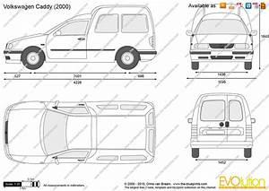 Volkswagen Caddy Vector Drawing