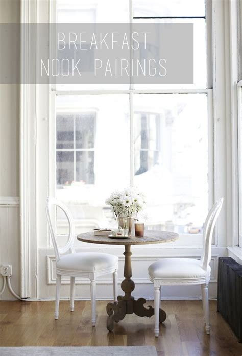breakfast nook trying to figure out the chair table pairings