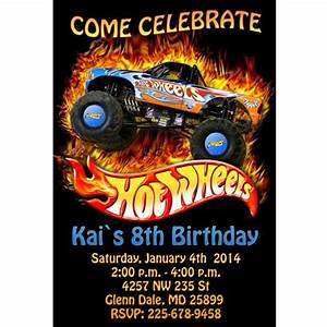 Hot Wheels Birthday Party Invitations Drevio Invitations
