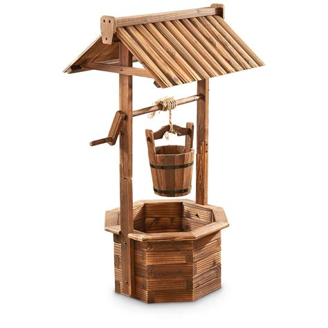 home blueprints free castlecreek wood wishing well planter 657801 yard