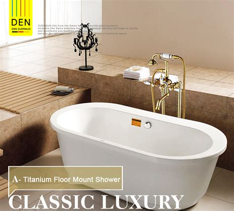 luxury modern freestanding dual cross handles bathtub