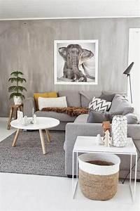 Idee Salon Scandinave : salon couleur taupe gris anthracite ou gris clair ~ Melissatoandfro.com Idées de Décoration