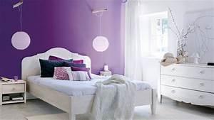 Modele Deco Chambre : deco chambre violet blanc ~ Teatrodelosmanantiales.com Idées de Décoration