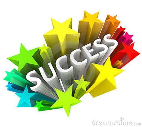 Success   Word Surrounded By Colorful Stars Stock Images   Image: 15732594