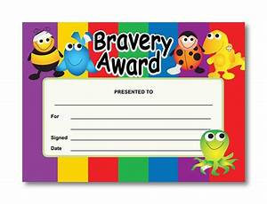 Certificate bravery award for Bravery certificate template