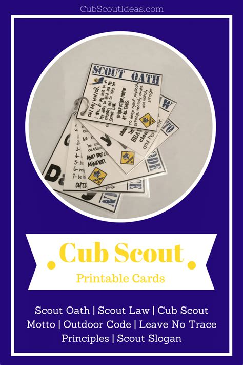 printable cub scout cards fun resource cub scout ideas