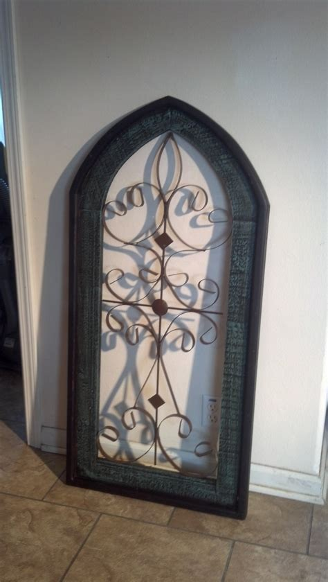 cathedral wall hanging window metal wood wall decor westwood pavillion