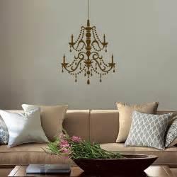 fancy crystal chandelier vinyl wall decals
