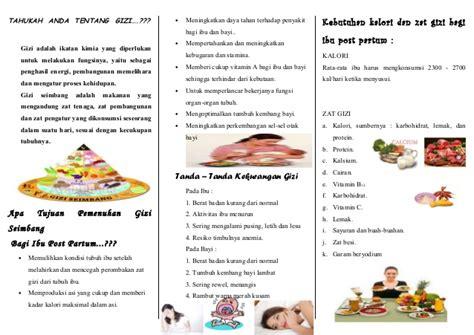 Sekolah Untuk Remaja Hamil 131000549 127983946 Leaflet Gizi Ibu Post Partum Ok