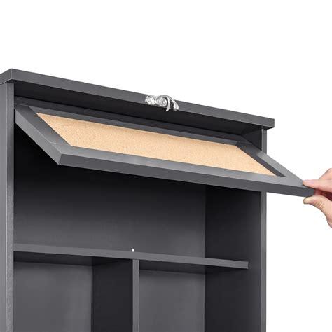 Wandklapptisch Mit Regal by En Casa 174 Wandtisch Grau Schreibtisch Tisch Regal Wand