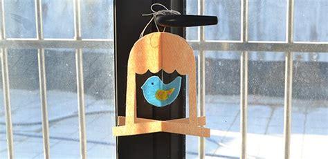 easy felt bird   cage fun family crafts