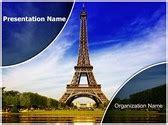 paris eiffel tower editable word template  design