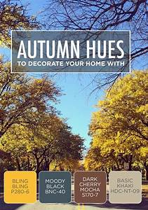 Autumn hues can inspire your new home decor update or