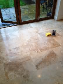 restoring the appearance of a polished travertine tiled floor in middlesex