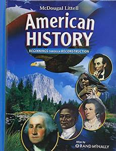 9780618828968  Mcdougal Littell Middle School American History  Student Edition Beginnings