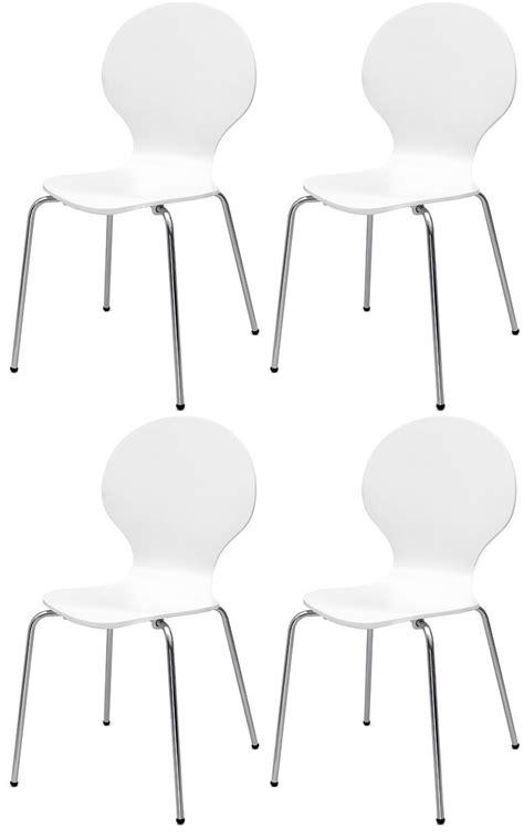 esszimmerstühle design klassiker 4x stuhl design klassiker esszimmerstuhl stapelstuhl holz weiss neu ebay