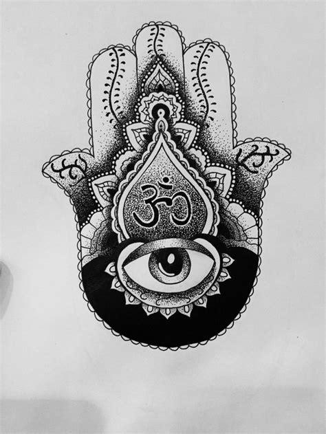 Hamsa Om sketch by me