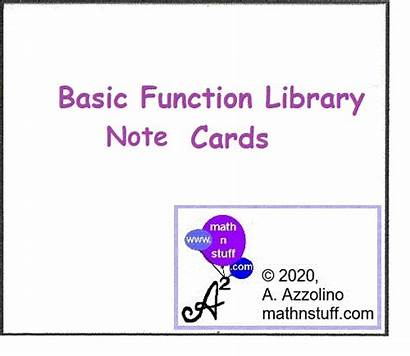 Math Functions Cards Animation Vocabulary Function Common