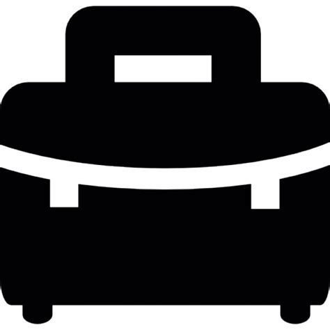 black briefcase icon black briefcase with white details icons free