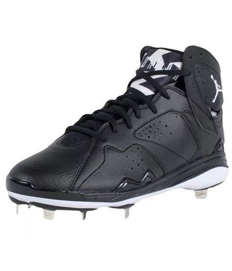 nike air jordan  retro metal baseball cleats black white