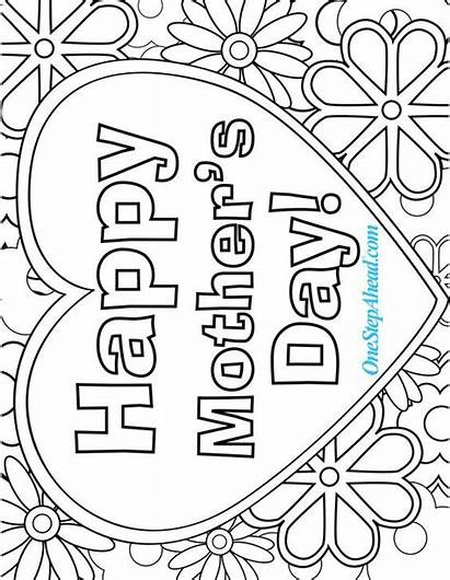 Coloring Mother Mothers Pages Sheets Printable Happy