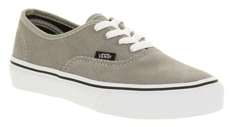 light up vans vans authentic light grey suede casual lace up skate