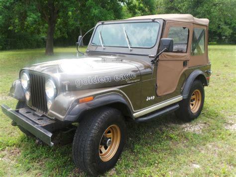 jeep golden eagle interior 1977 jeep cj golden eagle levis edtion original survivor