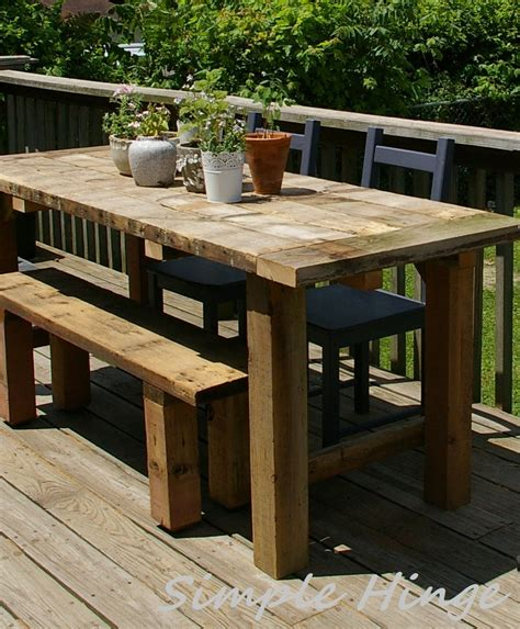 Chairs For Farmhouse Table by Rustic Outdoor Table Simple Hinge Llc