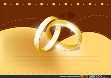 shiny wedding rings invitation card vector