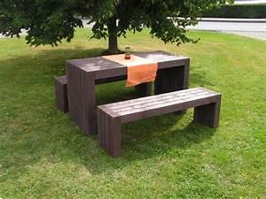 Parkbank Mit Tisch : kunststoff parkbank friko ~ Markanthonyermac.com Haus und Dekorationen