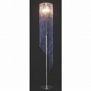Luminaire Sur Pied : lampe design sur pied en forme de spirale cristal ~ Nature-et-papiers.com Idées de Décoration