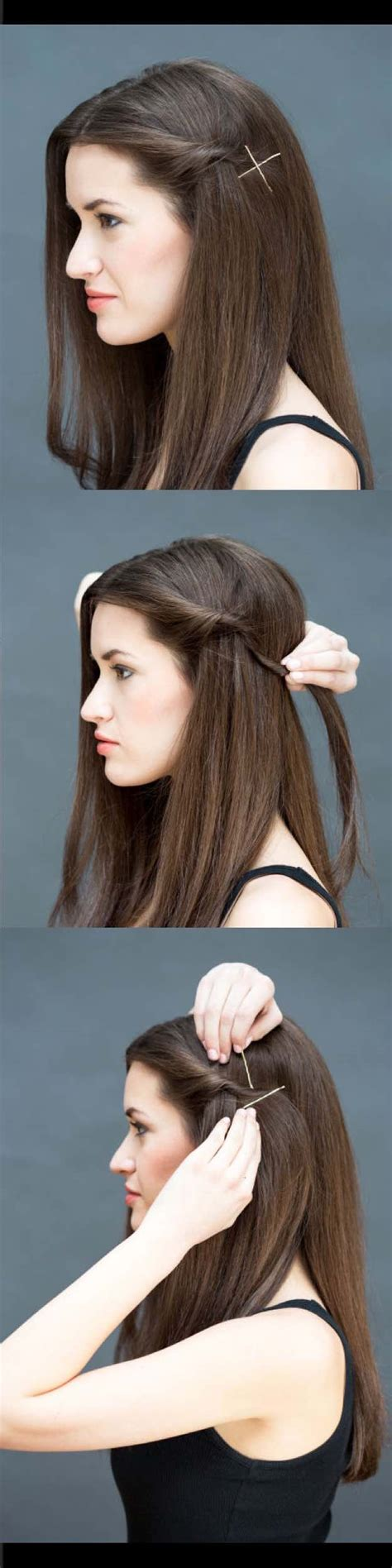 quick  easy hairstyles  straight hair  goddess