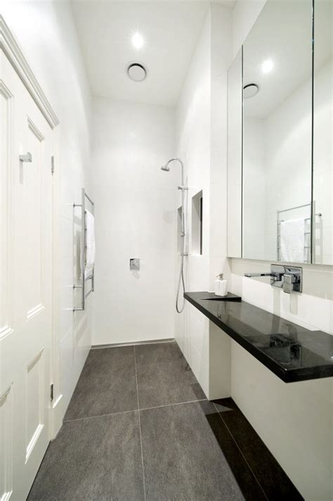 small narrow bathroom ideas 59 best images about compact ensuite on tile