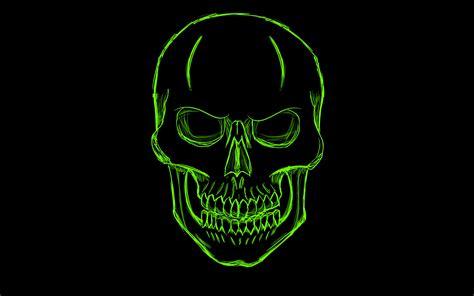 Dark Green Skull Minimalism Art Hd Artist 4k Wallpapers