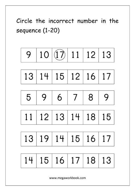 free printable math number order worksheets for