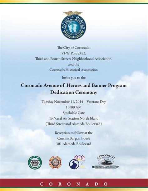 Avenue Of Heroes And Banner Program Dedication Planned For Veterans Day November 11 2014